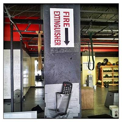 #thebox  #fireextinguisher #gym Poster