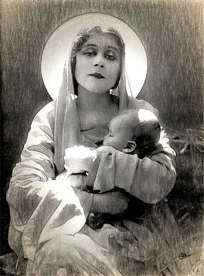 Theda Bara Madonna Poster
