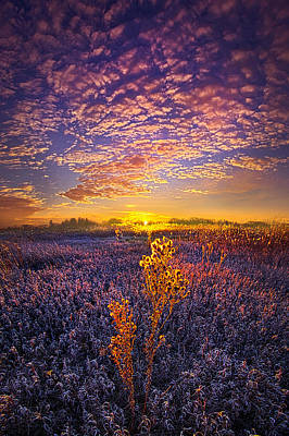Their Voices Raised As One Poster by Phil Koch