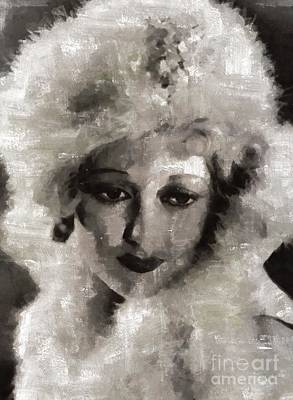 Thelma Todd, Vintage Actress By Mary Bassett Poster by Mary Bassett