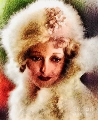 Thelma Todd, Vintage Actress Poster by John Springfield