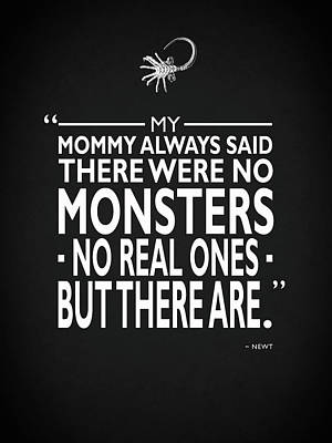 There Were No Monsters Poster by Mark Rogan