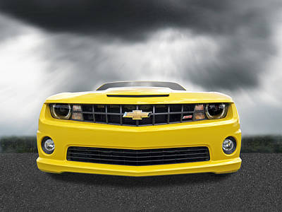 There's A Storm Coming - Camaro Ss Poster by Gill Billington