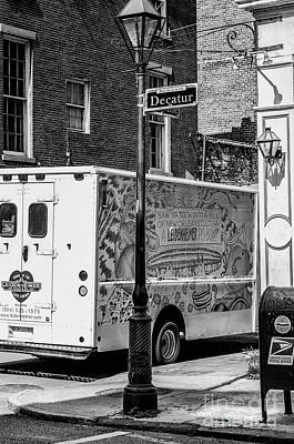 There Goes That Leidenheimer Truck Again - Nola Bw Poster by Kathleen K Parker
