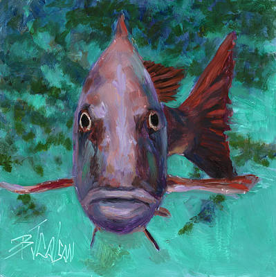 Poster featuring the painting There's Something Fishy Going On Here by Billie Colson