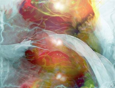 Theta Brain Waves Poster by Linda Sannuti