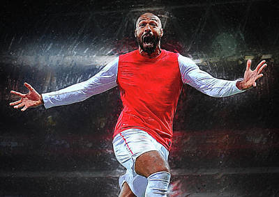 Thierry Henry Poster by Semih Yurdabak