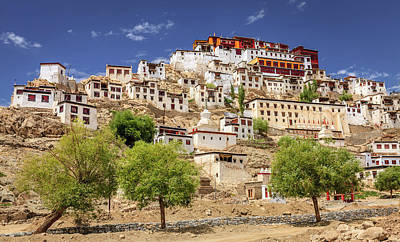 Poster featuring the photograph Thikse Monastery by Alexey Stiop