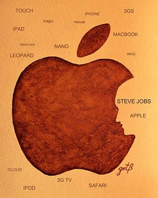 Think Different Steve Jobs 2 Poster by Georgeta  Blanaru