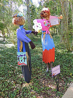 Think2gether Scarecrows At Cheekwood Botanical Gardens Poster