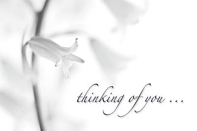 Thinking Of You Notecard Poster by Carol Leigh