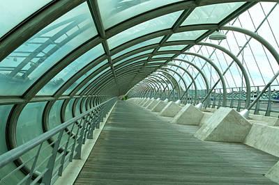 Third Millenium Bridge, Zaragoza, Spain Poster
