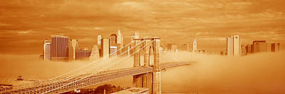 This Is A Sepiatone Of The Brooklyn Poster by Panoramic Images