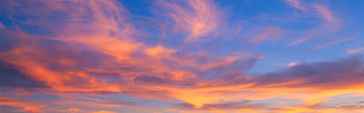 This Is A Sunset Sky Poster by Panoramic Images