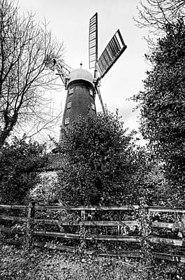 This Is Lincolnshire - Alford Windmill Poster by Paul W Sharpe Aka Wizard of Wonders