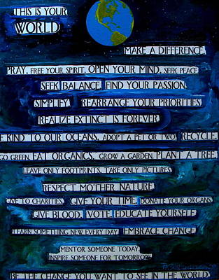 This Is Your World Poster by Patti Schermerhorn