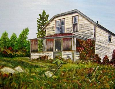 Poster featuring the painting This Old House by Marilyn  McNish