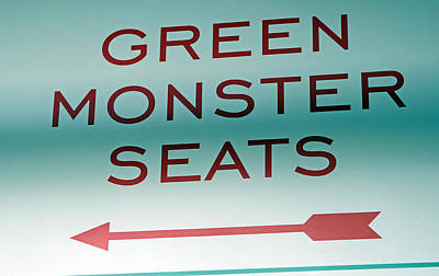 This Way To The Green Monster Seats Poster