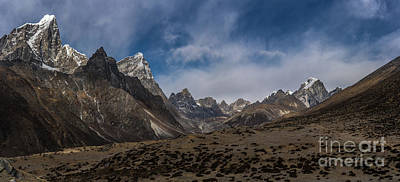 Poster featuring the photograph Thokla Pass Nepal by Mike Reid