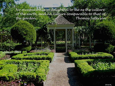 Thomas Jefferson On Gardens Poster