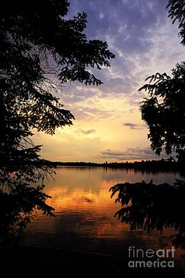 Thomas Lake Sunset 2 Poster by Larry Ricker