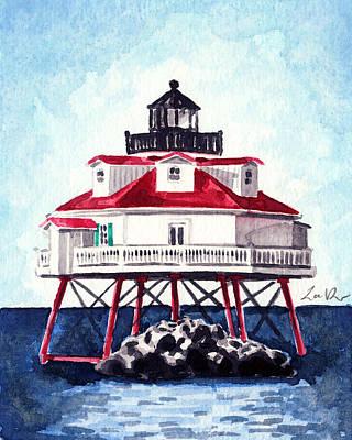Thomas Point Shoal Lighthouse Annapolis Maryland Chesapeake Bay Light House Poster