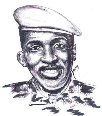 Thomas Sankara 02 Poster by Emmanuel Baliyanga