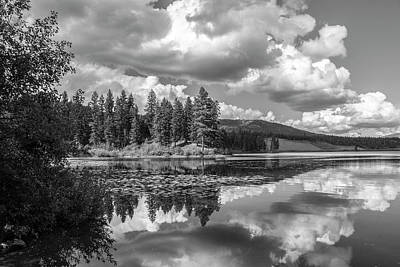 Thompson Lake In Black And White Poster