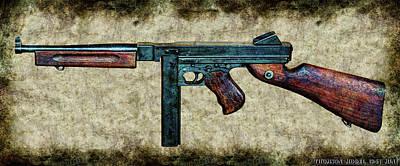 Thompson Sub-machine Gun 1944 Poster by Weston Westmoreland