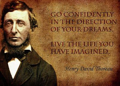 Thoreau Quote 1 Poster