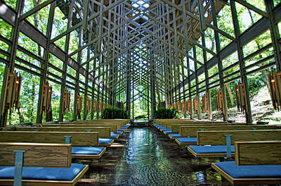 Poster featuring the photograph Thorncrown Chapel Interior by Cricket Hackmann