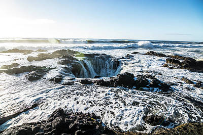 Thor's Well Poster by Pelo Blanco Photo