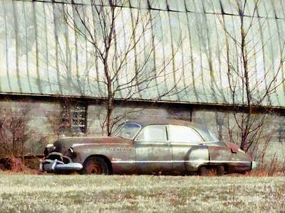 Poster featuring the photograph Those Were The Days - 49 Buick Roadmaster by Janine Riley