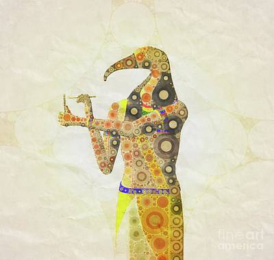Thoth, God Of Egypt By Mary Bassett Poster