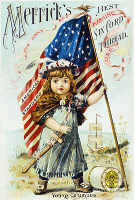 Thread Trade Card, C1880 Poster