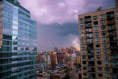 Poster featuring the photograph Threatening Storm - Manhattan - 2016 by Madeline Ellis