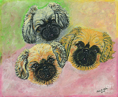 Poster featuring the painting Three Amigos by Ania M Milo