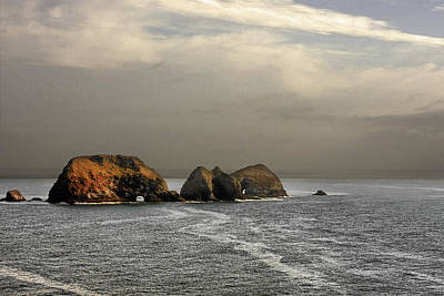 Three Arch Rocks - Oceanside Near Cape Meares - Oregon Poster