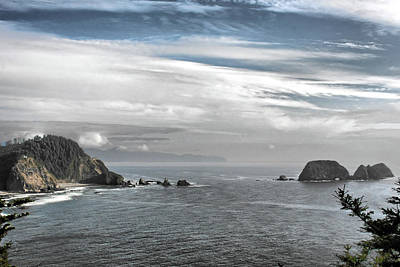 Three Arch Rocks National Wildlife Refuge Near Cape Meares Oregon Poster by Christine Till