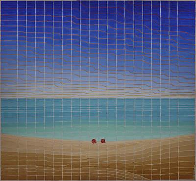 Three Beach Umbrellas Poster