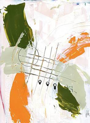Poster featuring the painting Three Color Palette Orange 3 by Michal Mitak Mahgerefteh