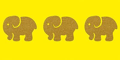 Three Elephants Poster by Art Spectrum