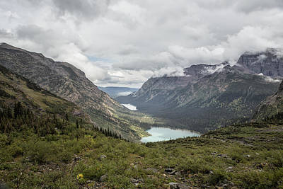 Three Lakes Viewed From Grinnell Glacier Poster