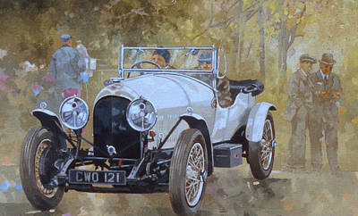 Three Litre Bentley At Kelmarsh  Poster