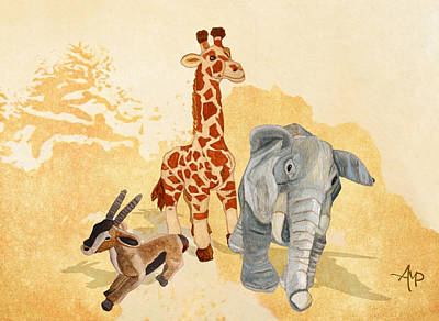 Three Little Friends Poster by Angeles M Pomata