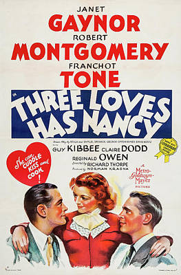 Three Loves Has Nancy 1938 Poster by M G M