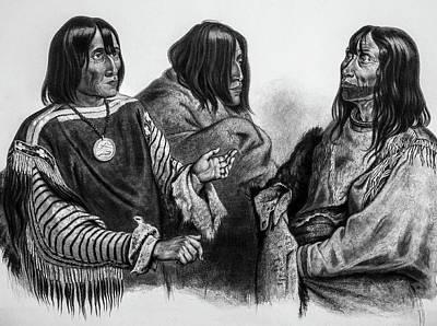 Three Native American Chiefs Poster by Douglas Barnett