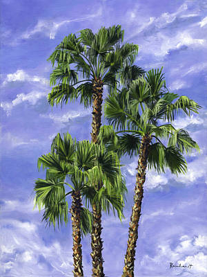 Three Palms Poster by Lisa Reinhardt