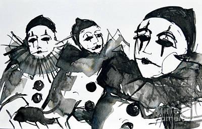 Three Pierrots - Venice Carnival Poster