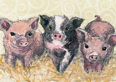 Three Piglets Poster by Blackwater Studio